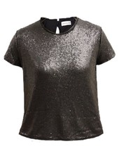Palmer Private Label Sequin Short Sleeve Top