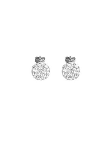 Palmer Jewelry Pave CZ Disk Earring