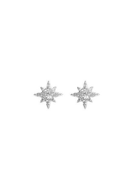 Palmer Jewelry CZ Star Burst Earring