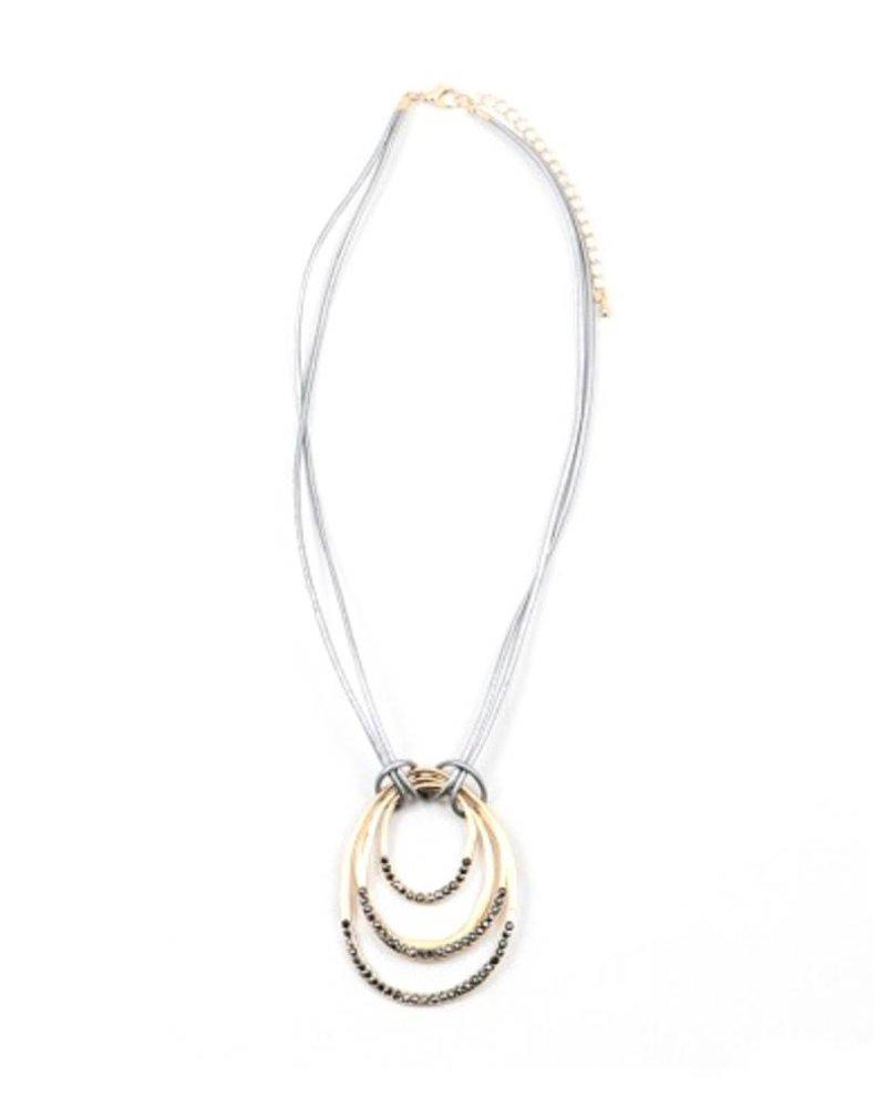 Palmer Jewelry Joanne Leather Necklace