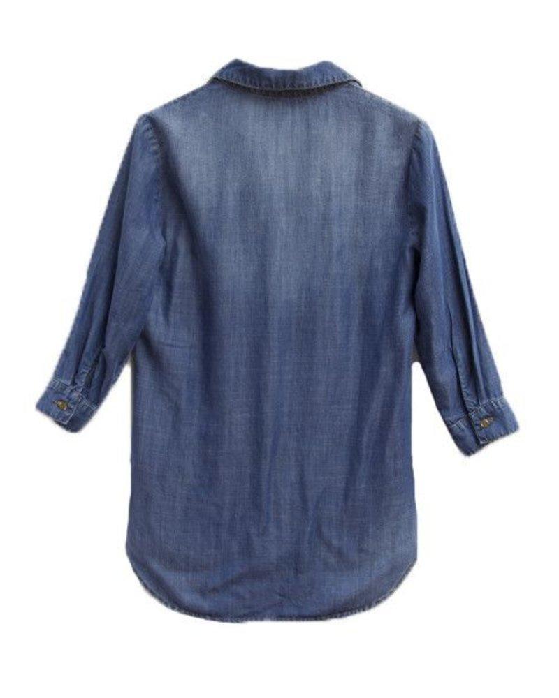 Bella Dahl Fold Placket Pullover