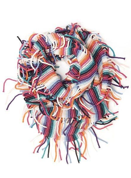 ECHO Multi Stripe Fringe Loop