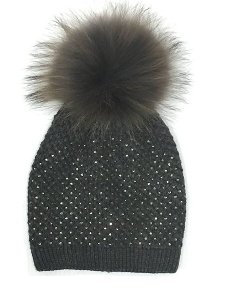 Haute Shore LTD Alpine Crystal Pom Pom Hat