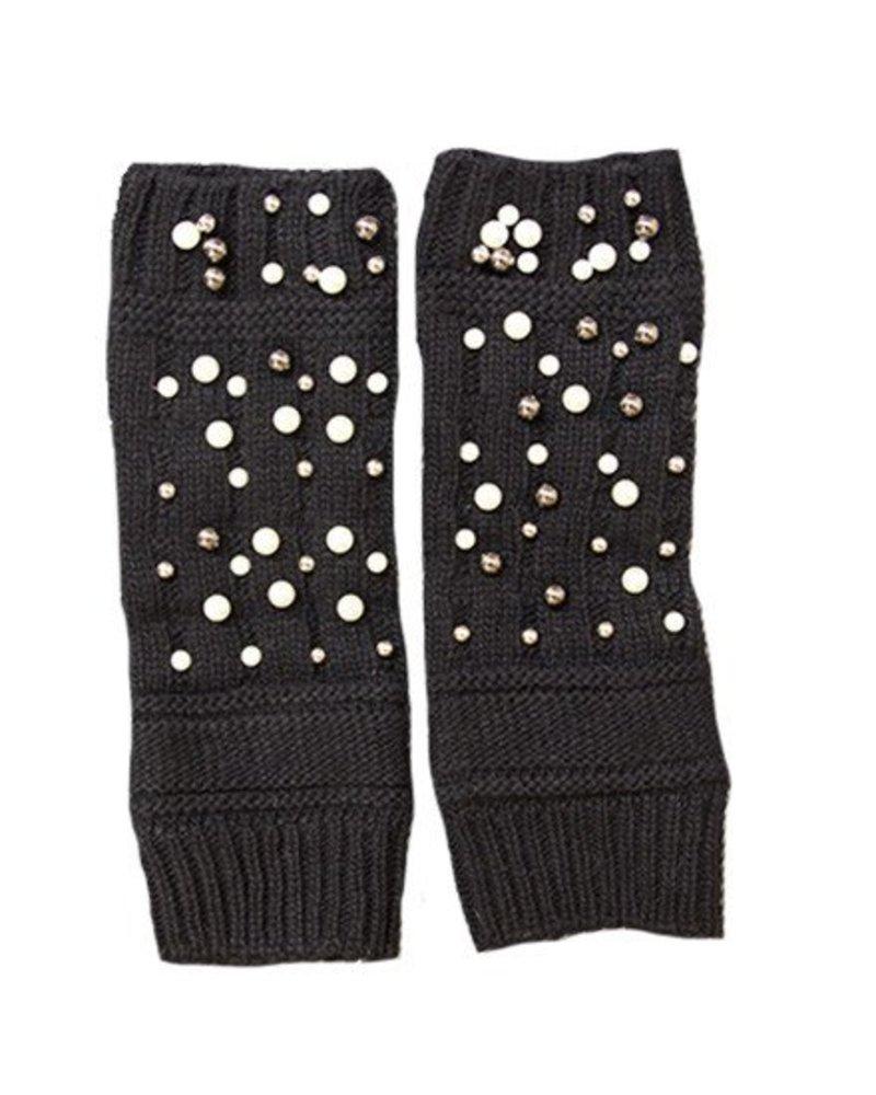 Haute Shore LTD Moritz Pearl Fingerless Glove Black