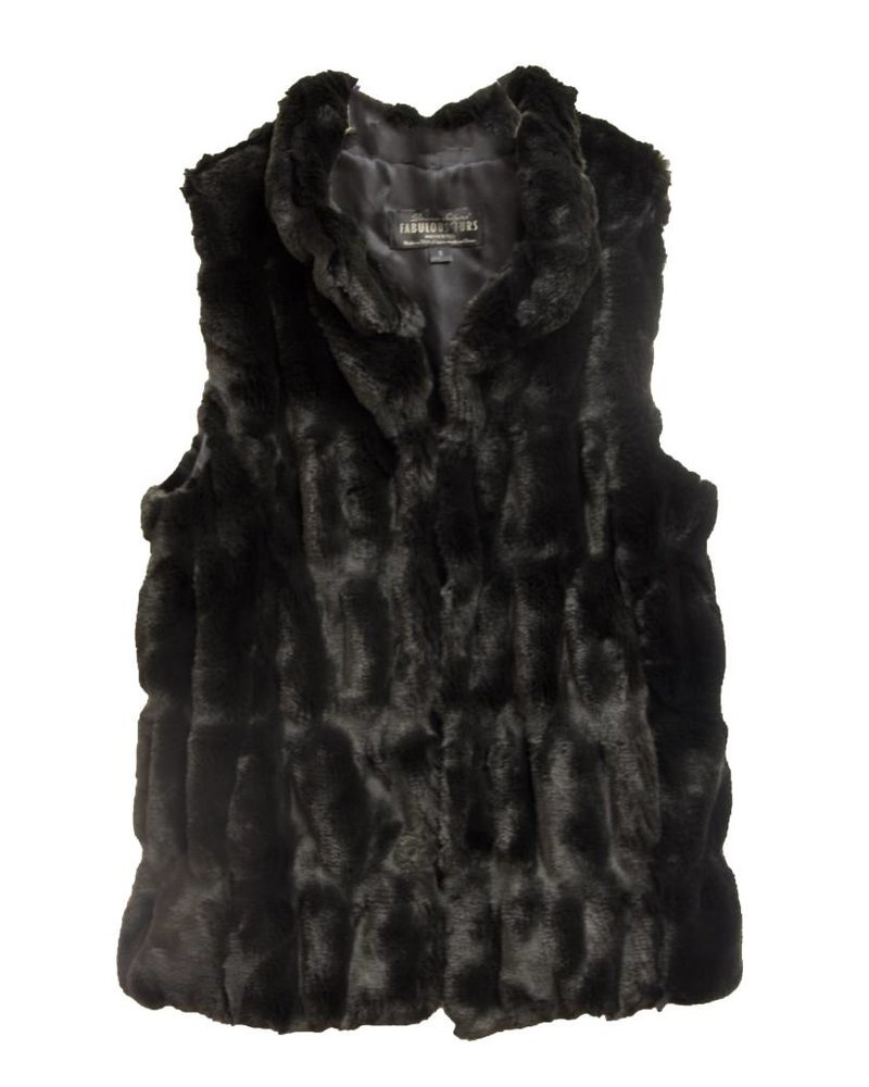 Fabulous Furs Hook Vest Onyx Mink