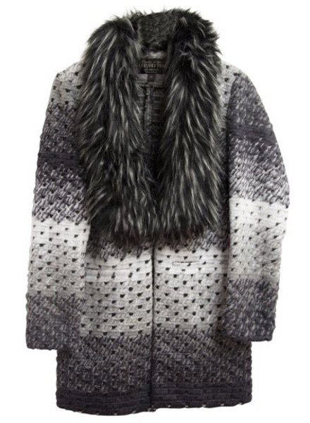 Fabulous Furs Marble Sweater Grey