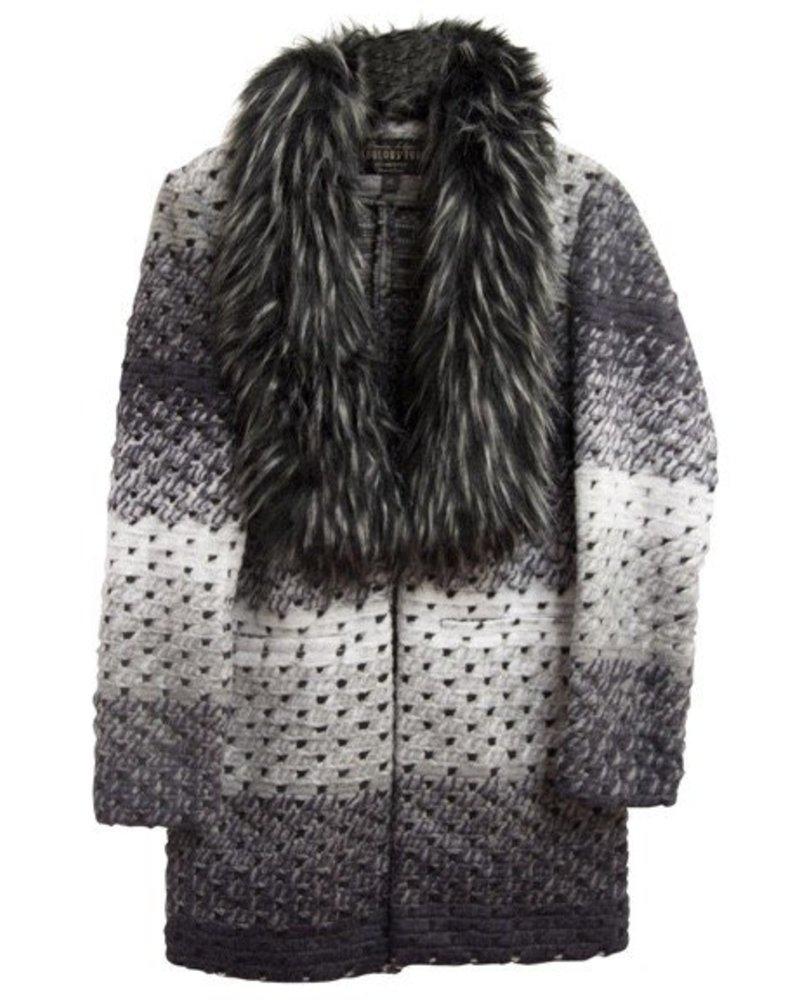 Fabulous Furs Marble Sweater Grey