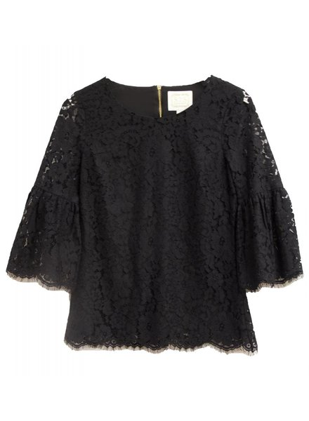 SAIL TO SABLE 3/4 Lace Flounce Sleeve Top