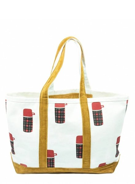 Crab & Cleek Large Cord Thermos Tote