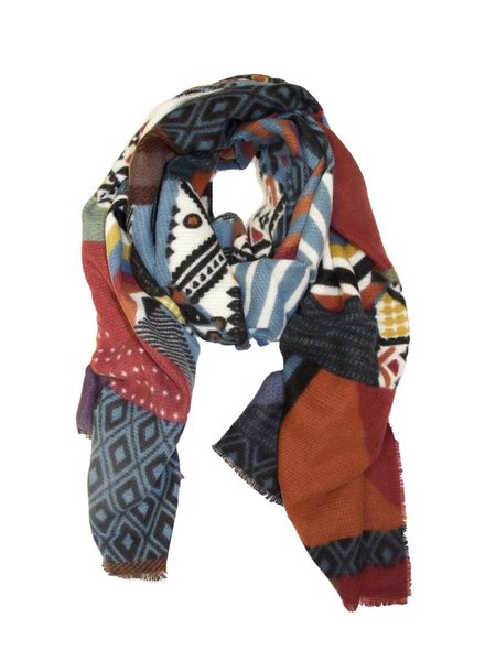 Palmer Private Label Patchwork Pattern Scarf