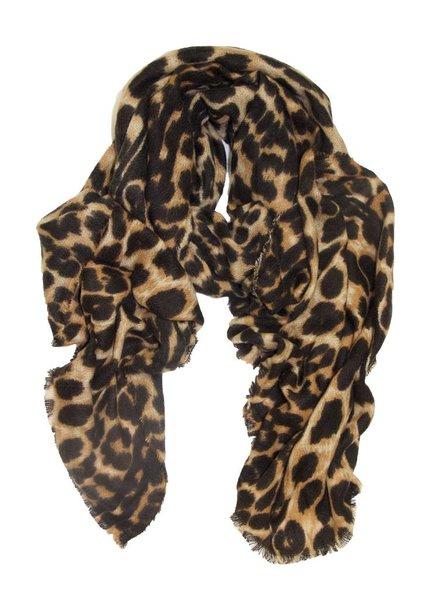 Palmer Private Label Long Leopard Print Scarf