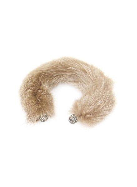 Palmer Jewelry Mink Arm Cuff - Taupe