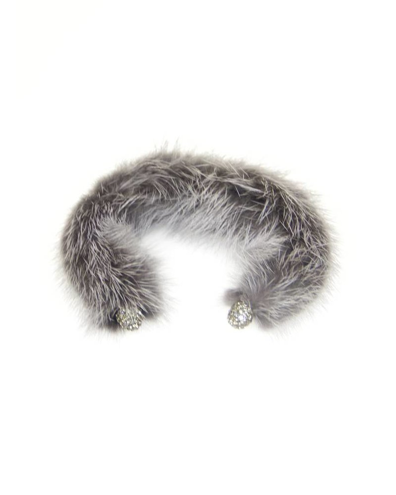Palmer Jewelry Mink Arm Cuff - Grey