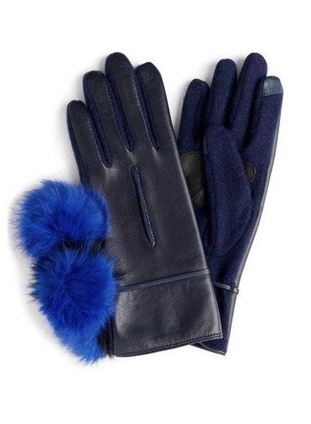 ECHO Colorblock Fur Pom Glove