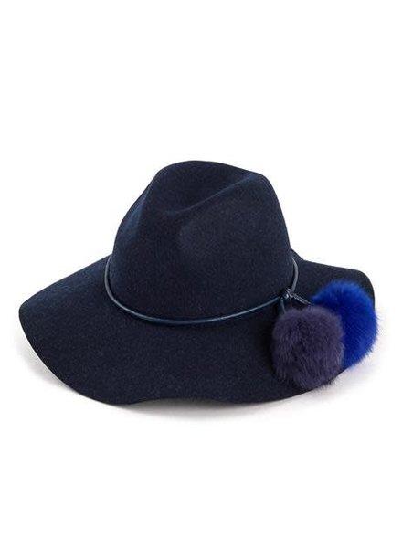 ECHO Rabbit Fur PomPom Hat