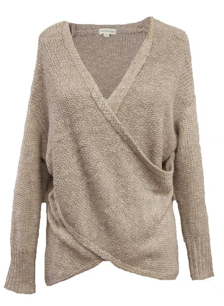 Palmer Private Label Front Cross Sweater