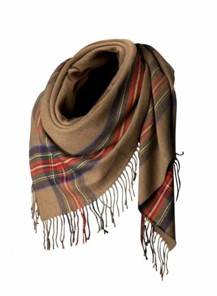 Palmer Private Label Plaid Accent Scarf