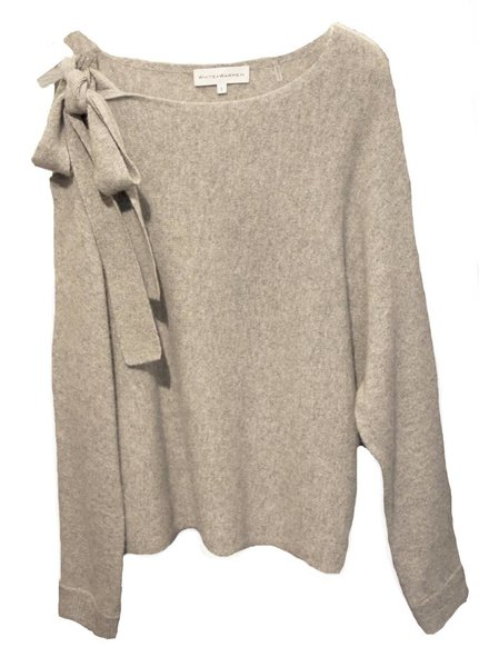 WHITE & WARREN Asym Shoulder Sweater