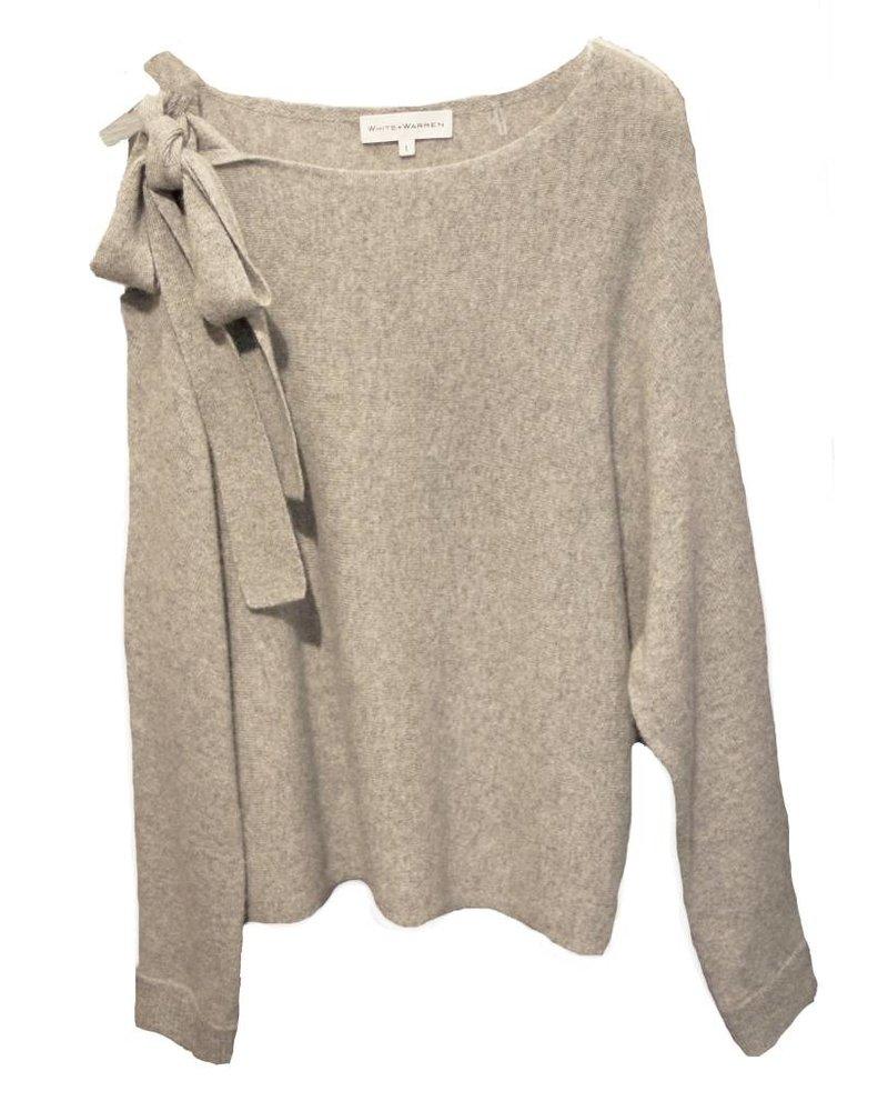 WHITE & WARREN Asym Shoulder Sweater