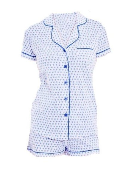 ROBERTA ROLLER RABBIT PJ Polo Set W Shorts Hearts