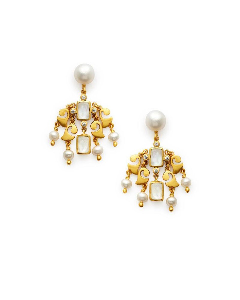 Julie Vos Clara Chandelier Earring
