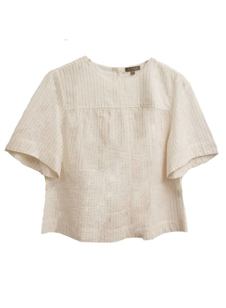 LILLA P Short Sleeve Lurex Top