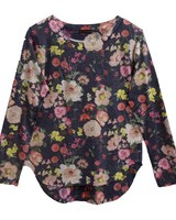NALLY & MILLY Floral Print Top