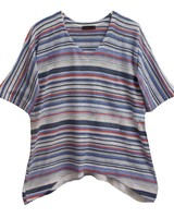 NALLY & MILLY Stripe V-Neck Top
