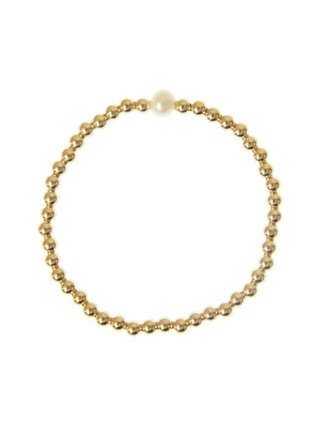 4MM Gold One Pearl