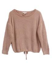 Palmer Private Label Chenille Sweater W/ Lace Back