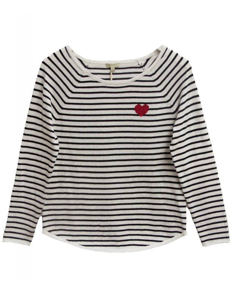 PROJECT DESIGN Striped Heart Sweatshirt