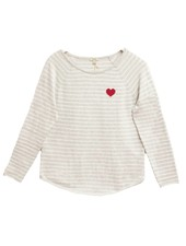 PROJECT DESIGN Striped Heart Sweatshirt