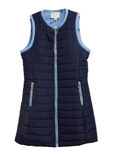 SAIL TO SABLE Quilted Long Vest