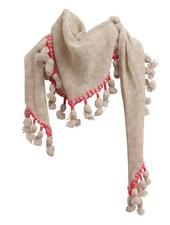 WHITE & WARREN Cashmere Triangle Tassel Scarf