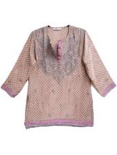 Gretchen Scott Silk Emb Tunic