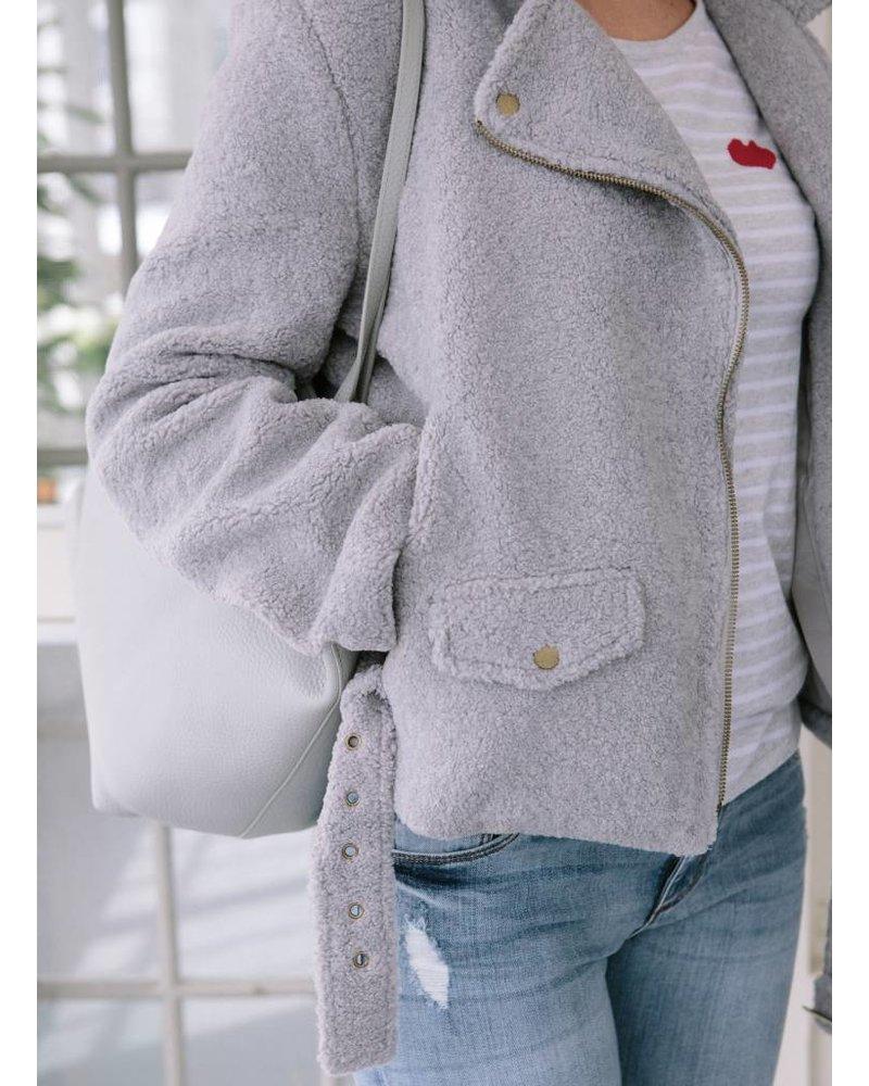 Palmer Private Label Fleece Moto Jacket w/ Belt