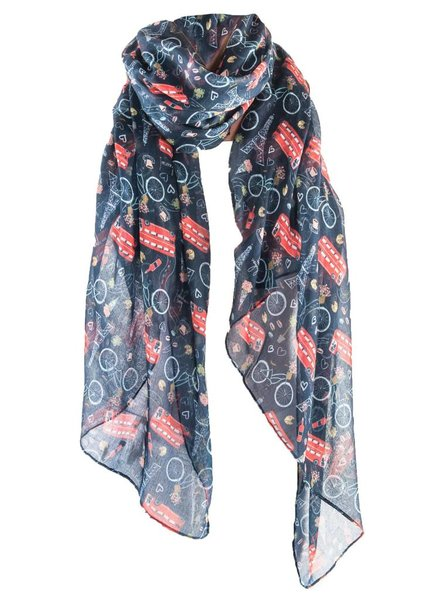 PRINTED VILLAGE European Adventure Scarf