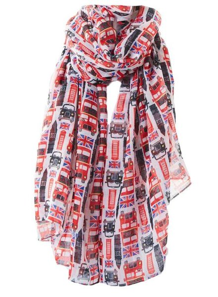 PRINTED VILLAGE London Printed Scarf