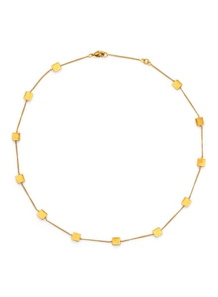 Julie Vos Chloe Petite Station Necklace Gold