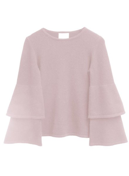 SAIL TO SABLE Bell Sleeve Cashmere Sweater