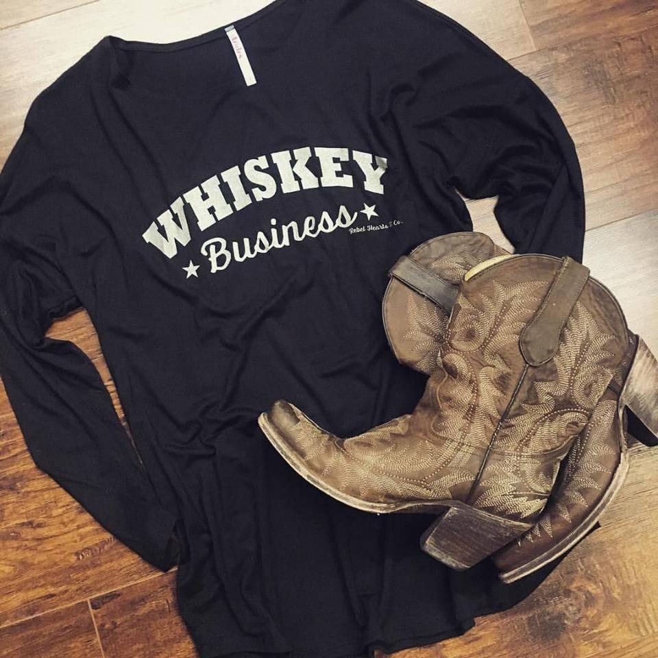 Whiskey Business Long Sleeve Dolman