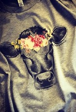 Flower Cow Tee