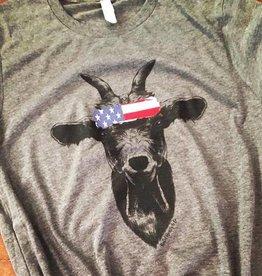 Patriotic Goat Tee