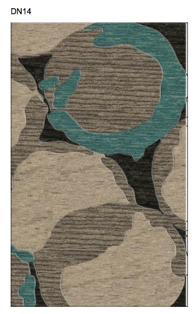 Dalyn Rug Company Denali Custom rug with smoke(127), robin's egg (115), linen (103) & ash (126