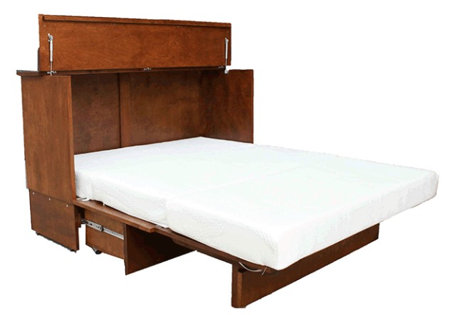 "Cabinet Bed Tri-fold Queen 2"" Gel Mattress for cabinet bed"