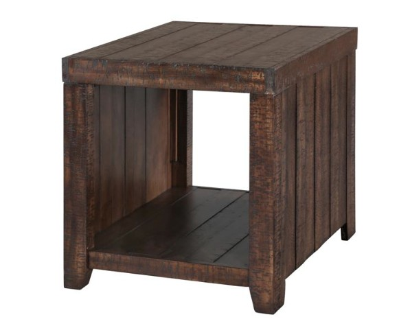 Magnussen Caitlyn Rectangular End Table in Distressed Natural
