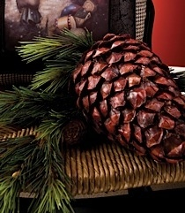 "K & K 7"" Closed Pinecone Ornament"