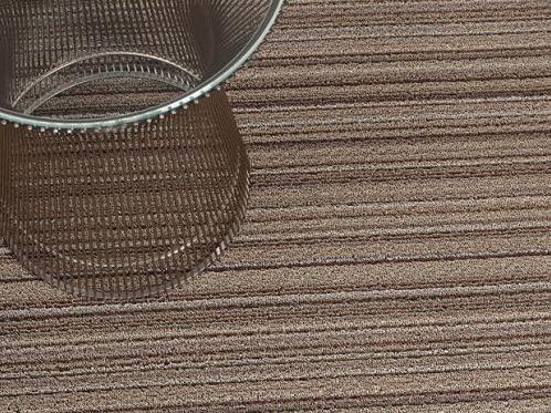 Chilewich Chilewich Shag Skinny Stripe Doormat in Mushroom