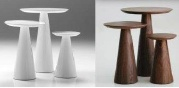Mobital END TABLE TOWER LOW NATURAL WALNUT