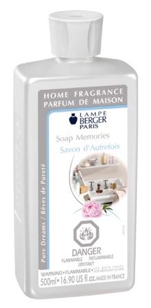Lampeberger A fragrance of cleanness, a moment of pure olfactory comfort that reminds you of bath-time. A floral chypre with a mix of orange, peony and cotton blossoms, all enhanced with a hint of sweet almond. Home fragrance 500ml.  Made in France